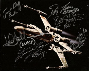 X-Wing Pilots autographs—Collection of Gary X